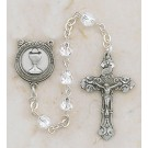 Girl's Jewelry/Pewter First Communion Crystal Rosary