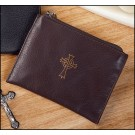 Brown Leather Rosary Case