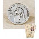 St Peregrine Lapel Pin & Prayer Card