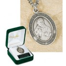 Men's St Pio Sterling Silver Medal