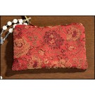 Red Rose Brocade Rosary Case