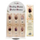 Patron Saints of Healing Pocket Stone Display