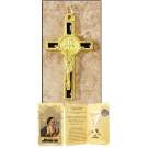 Black Saint Benedict Cross in Gift Folder