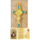 Blue Saint Benedict Cross in Gift Folder