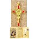 Red Saint Benedict Cross in Gift Folder