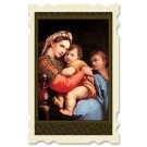 Madonna of the Chair Old Masters Holy Card