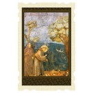 Saint Francis Talks to the Birds Old Masters Holy Card
