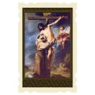 Saint Francis Embraces Christ Old Masters Holy Card