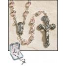 Pink Tears of Mary Rosary
