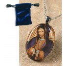 Our Lady of Guadalupe Bust Glass Pendant