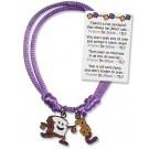 PBJ Adjustable Charm Bracelet
