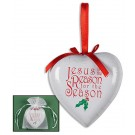Jesus is the Reason Ornament in Organza Bag