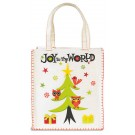 Joy to the World Whipstitch Tote