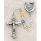 Silver-Plated Jewelry/Pewter Multi-Color Crystal Rosary