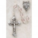 Silver-Plated Jewelry/Pewter Rose Crystal Rosary