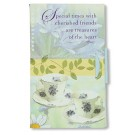 Special Times Simple Reminders Fold-In Notepad