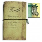 Faith with Cross Charm Vintage-Look Journal
