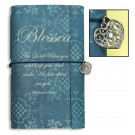 Blessed with Heart Charm Vintage-Look Journal