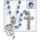 Blue Deluxe Cat's Eye Rosary
