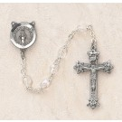 Crystal (April) Czech Birthstone Rosary