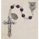 Genuine Amethyst Italian Semi-Precious Rosary