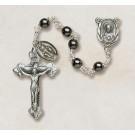 Genuine Hematite Italian Semi-Precious Rosary