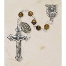 Genuine Tiger Eye Italian Semi-Precious Rosary