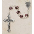 Amethyst Hand-Painted Rosary