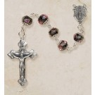 Black Hand-Painted Rosary