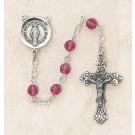 Swarovski Fuchsia Sterling Silver Rosary