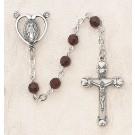 Swarovski Garnet Sterling Silver Rosary