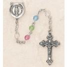 Swarovski Multi-Color Sterling Silver Rosary