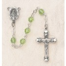 Swarovski Peridot Sterling Silver Rosary