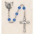 Swarovski Sapphire Sterling Silver Rosary