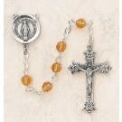 Swarovski Topaz Sterling Silver Rosary