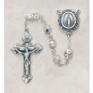 Swarovski Aurora Borealis Sterling Silver Rosary