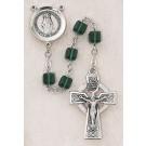 Square Emerald Swarovski Crystal Rosary