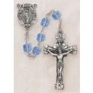 Square Light Sapphire Swarovski Crystal Rosary