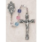 Square Multi-Color Swarovski Crystal Rosary
