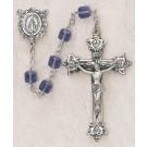 Square Tanzanite Swarovski Crystal Rosary