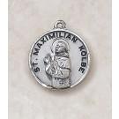 Sterling Patron Saint Maximilian Kolbe Medal