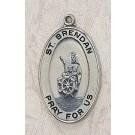 Sterling St. Brendan Patron Saint Medal