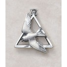 Sterling Holy Spirit Patron Saint Medal