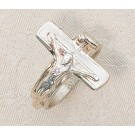 Crucifix Sterling Silver Ring