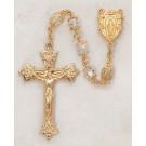 Aurora Borealis Swarovski Jewelry/Gold Over Silver/ Rosary