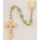Peridot Swarovski Crystal Rosary