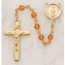 Topaz Swarovski Crystal Rosary