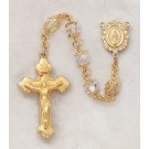 Swarovski Aurora Borealis Jewelry/Gold Over Silver/ Rosary