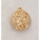 22kt. Gold Over Sterling St. Christopher Medal