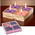 Come Lord Jesus Advent Candles in Mango Wood